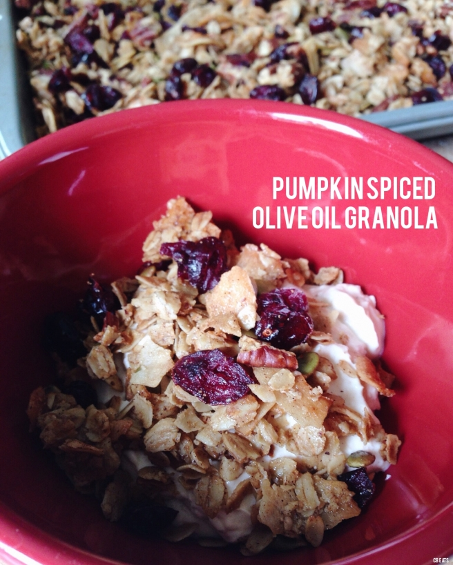 Pumpkin Spiced Olive Oil Granola