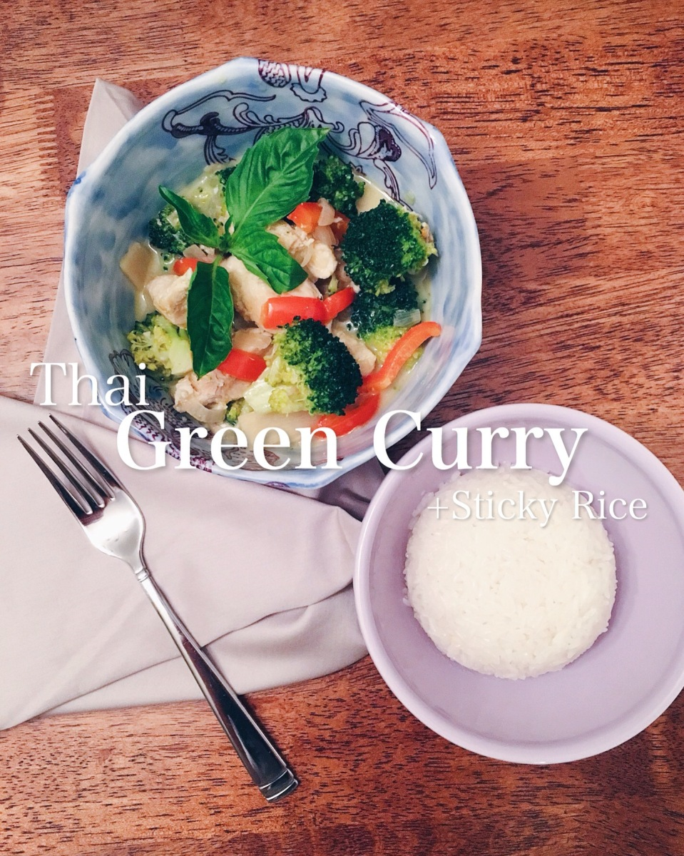 Thai Green Curry + Sticky Rice