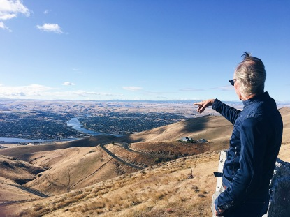 Dad taking in the view of Lewiston