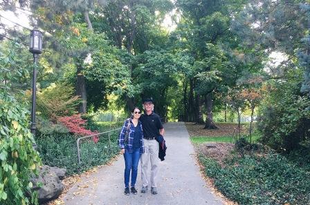 On our walk around the beautiful UofI campus